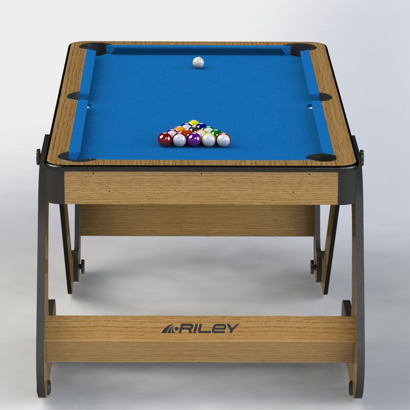 Riley 6ft vertically folding pool table with darts board for Pool table 6 x 3