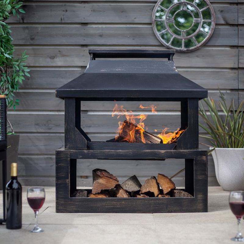Fireplaces & Heaters (Stoves) La Hacienda Stonehurst Wood Burning Fireplace