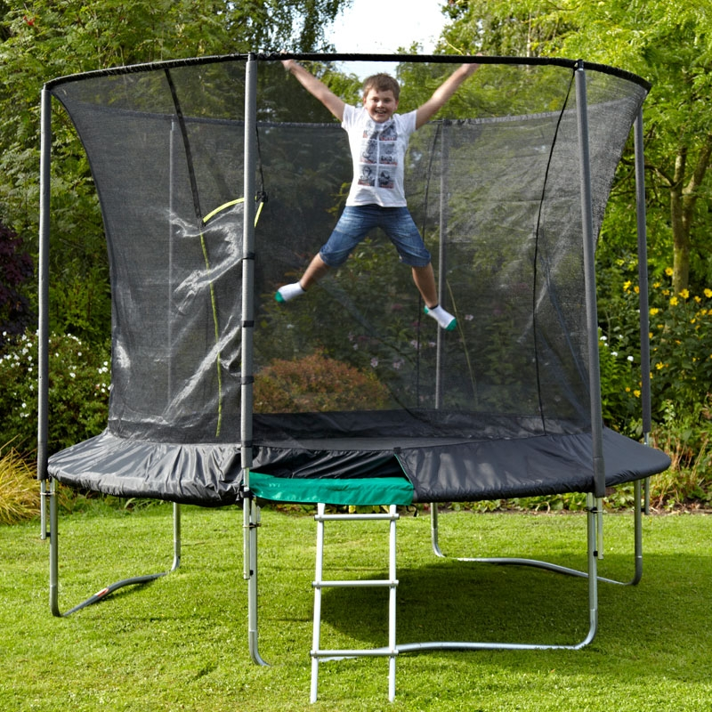 TP Toys 10ft Genius Round Trampoline With Igloo Door, All