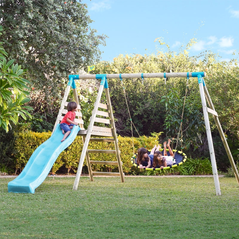 Tp Toys Fiordland Wooden Swing Set Amp Slide All Round Fun
