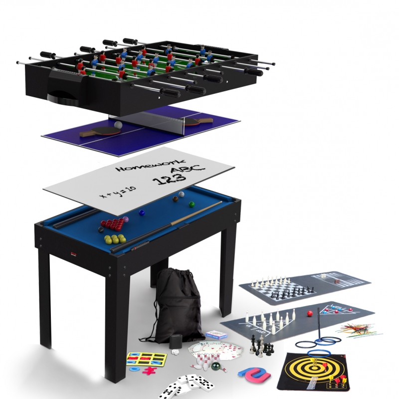 bce 4ft 12in1 multi games table mg121s (black)
