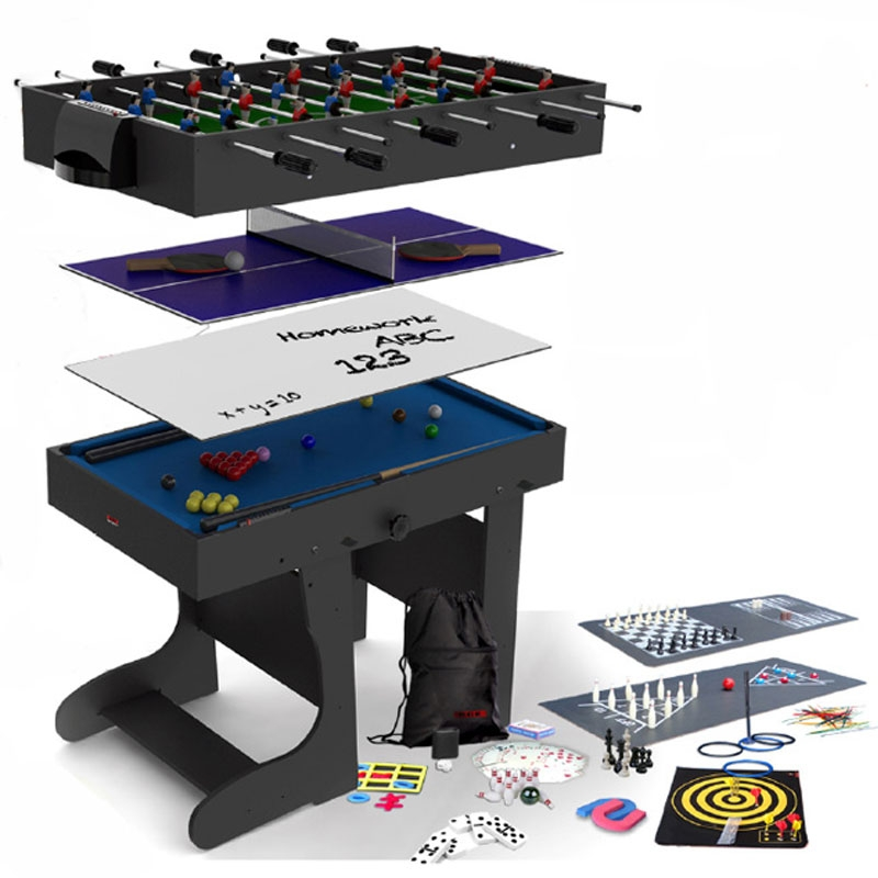 bce 4ft 21in1 folding multi games table mg211f (black)