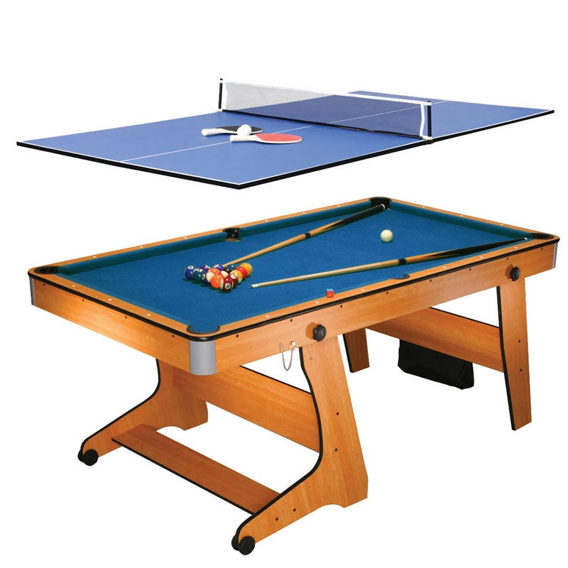 Bce 6ft folding pool table table tennis fp6tt bce folding pool table tennis table all - Pool table table tennis ...