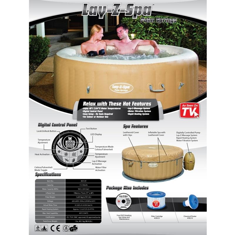 lay z spa palm springs lazy spa palm springs all round fun. Black Bedroom Furniture Sets. Home Design Ideas