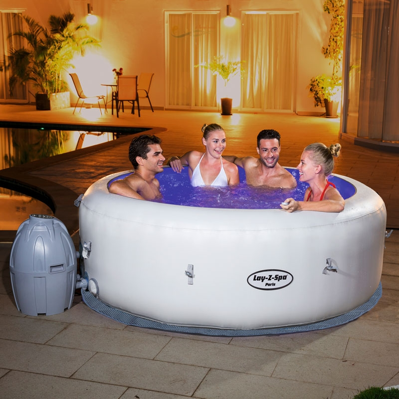 Lay z spa paris lazy spa paris all round fun for Hot tubs for tall people