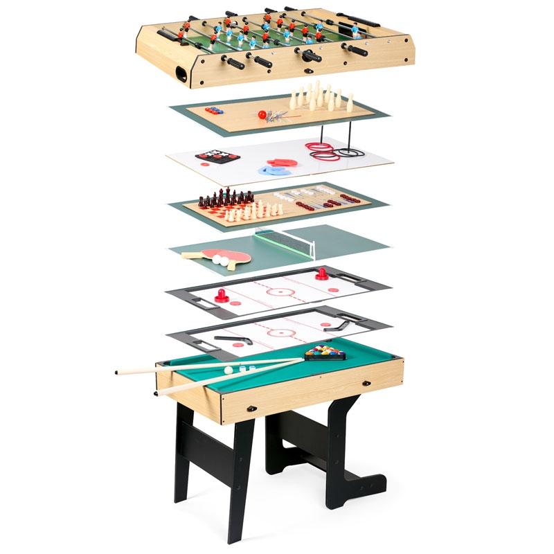EvoStar 4ft 15-in-1 Folding Multi Games Table