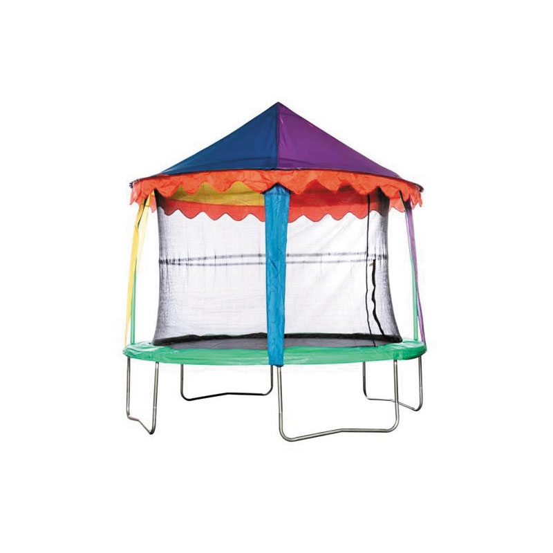 10 Foot Tent : Bazoongi ft trampoline circus tent canopy all round fun