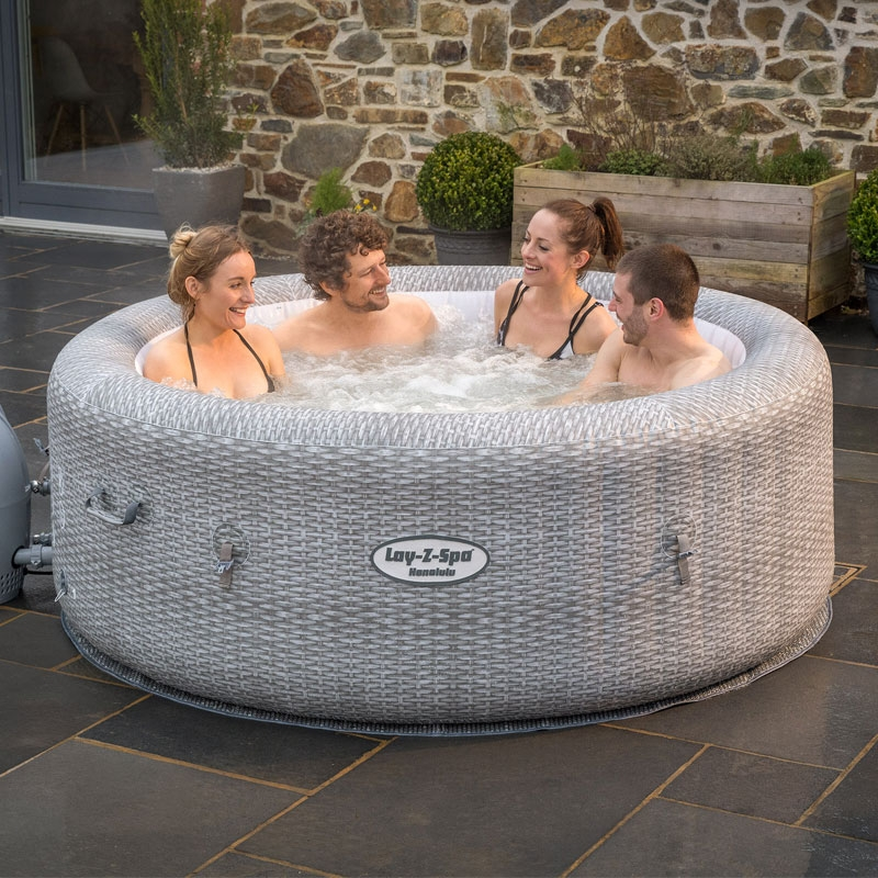 Bestway Lay Z Spa Honolulu 4 6 Person Inflatable Hot Tub