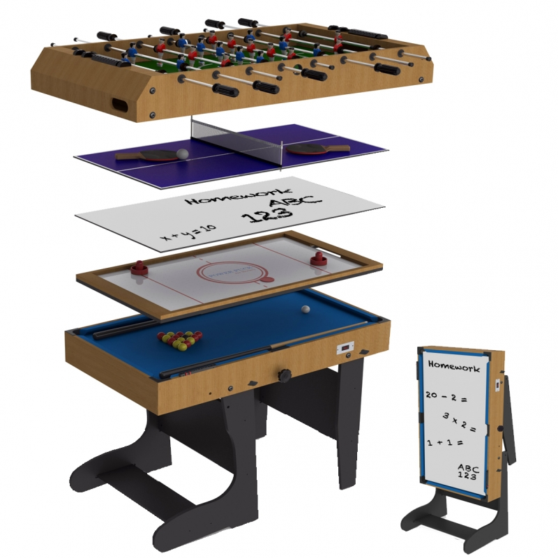Riley 4ft 12 In 1 Folding Multi Games Table | Riley 4ft Folding Multi Games  Table | All Round Fun
