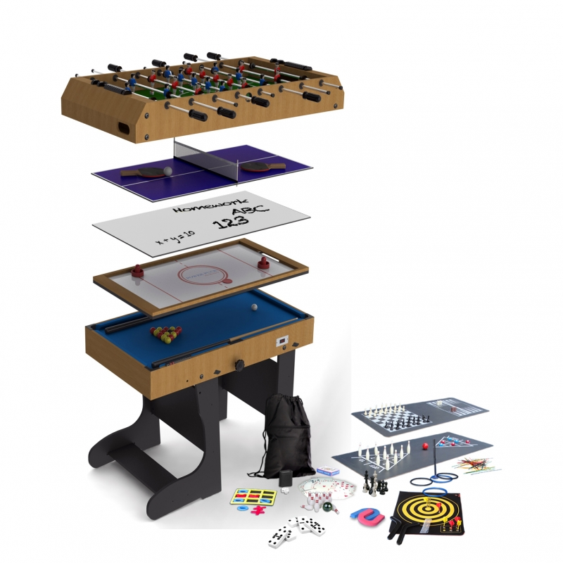 Riley 4ft 21-in-1 Folding Multi Games Table M21B-1F